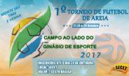 SECET encerra inscrições para o Primeiro Torneio de Futebol de Areia, amanhã (25)