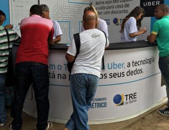 Uber dará bônus de R$ 15 para eleitor que fizer recadastramento biométrico; saiba mais